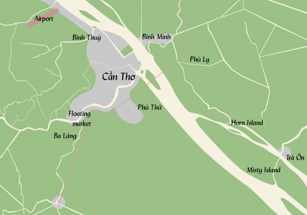 The area surrounding Cần Thơ